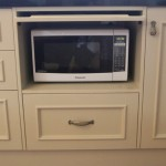 Countertop Microwave Drop Down Door : Hide the microwave with a drop down door.