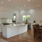 White Gloss Kitchen Island Bench