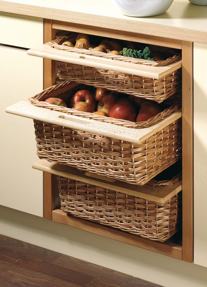 Pantry designs for today 39 s kitchen matthews joinery for Baskets for kitchen cabinets