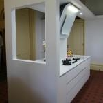 Modern White Gloss Kitchen Island Bench