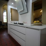 Modern White Gloss Kitchen Island Bench